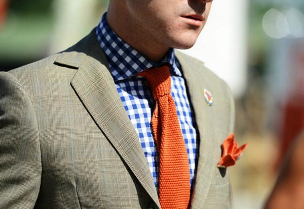 Sivi sako Muška moda: Vesela narandžasta