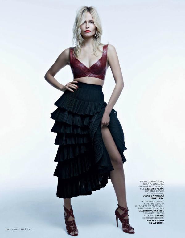 "Top + maxi suknja ""Vogue Russia"": Natasha Poly kao strastvena Španjolka"