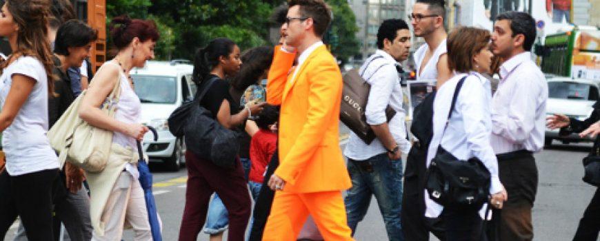 Muška moda: Vesela narandžasta