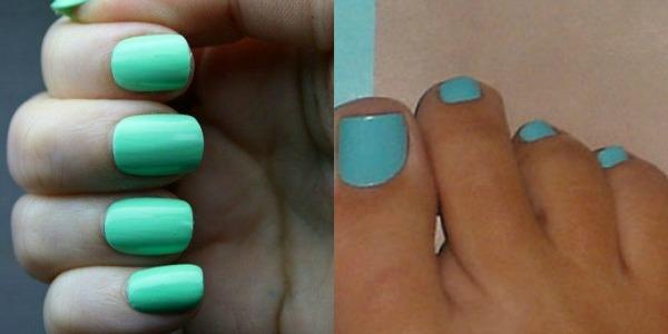 Vodeno plavi i zeleni nokti Zabavne kombinacije lakova za ovo proleće