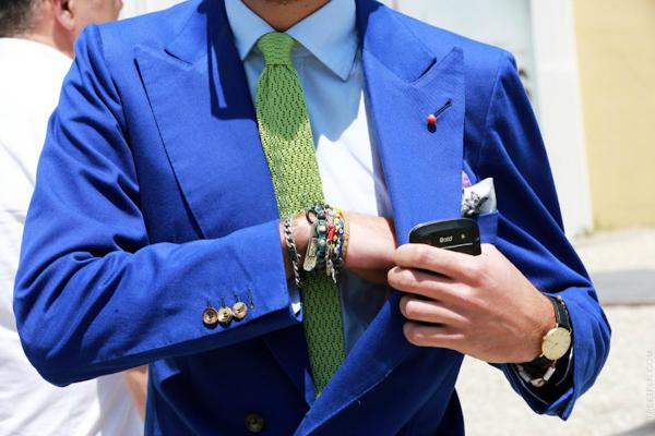 Zelena kravata Muška moda: Sve nijanse plave