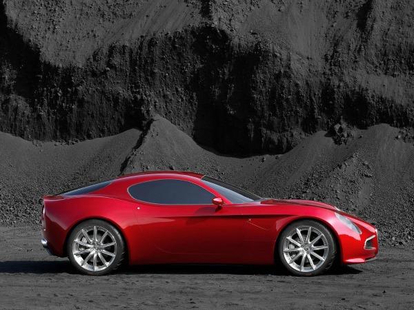 """Zverski moćan prikaz profila automobila marke Alfa Romeo 8C Competizione 200 km/h: Alfa Romeo """"8C Competizione"""""""
