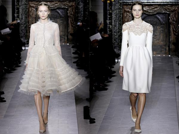 bela haljina od sifona i haljina sa cipkanim okovratnikom slika 3 Proleće i leto na modnim pistama: Valentino