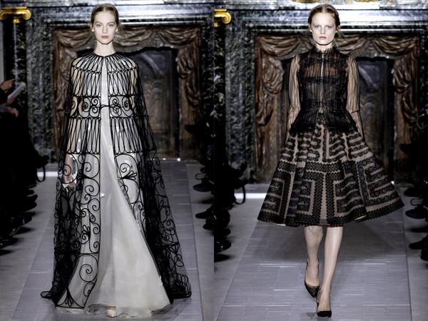 bela haljina sa crnim ogrtacem i crna haljina slika2 Proleće i leto na modnim pistama: Valentino