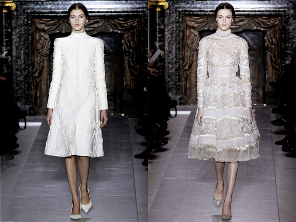 bele cipkane haljine slika 5 Proleće i leto na modnim pistama: Valentino