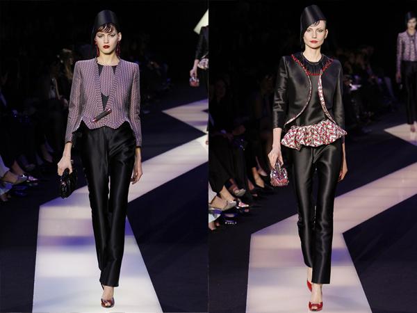 crni kompleti slika5 Proleće i leto na modnim pistama: Giorgio Armani Prive