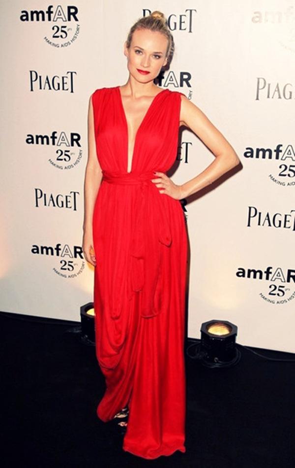 diane kruger red dress 2011 Modne trendseterke: Deset glumica u crvenim haljinama