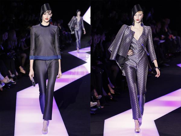 ljubicasto siva odela sa sarama slika41 Proleće i leto na modnim pistama: Giorgio Armani Prive