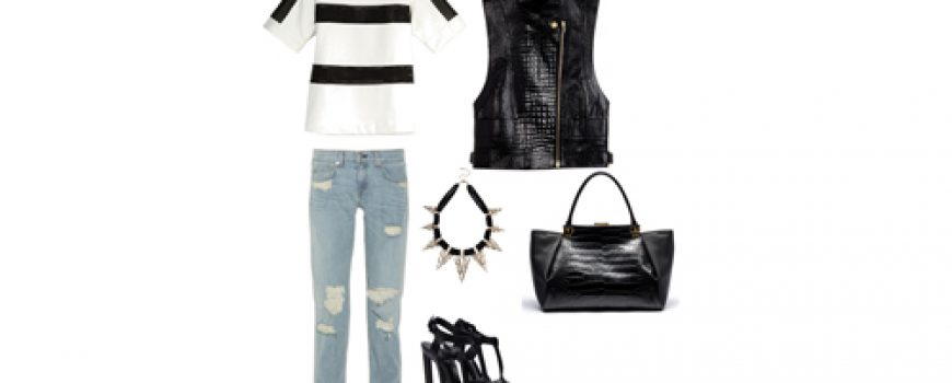 Look of the Day: Crno i belo