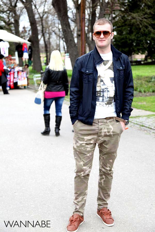 momak u vojničkim pantalonama 6 Belgrade Style Catcher: Klasika na ulicama Beograda