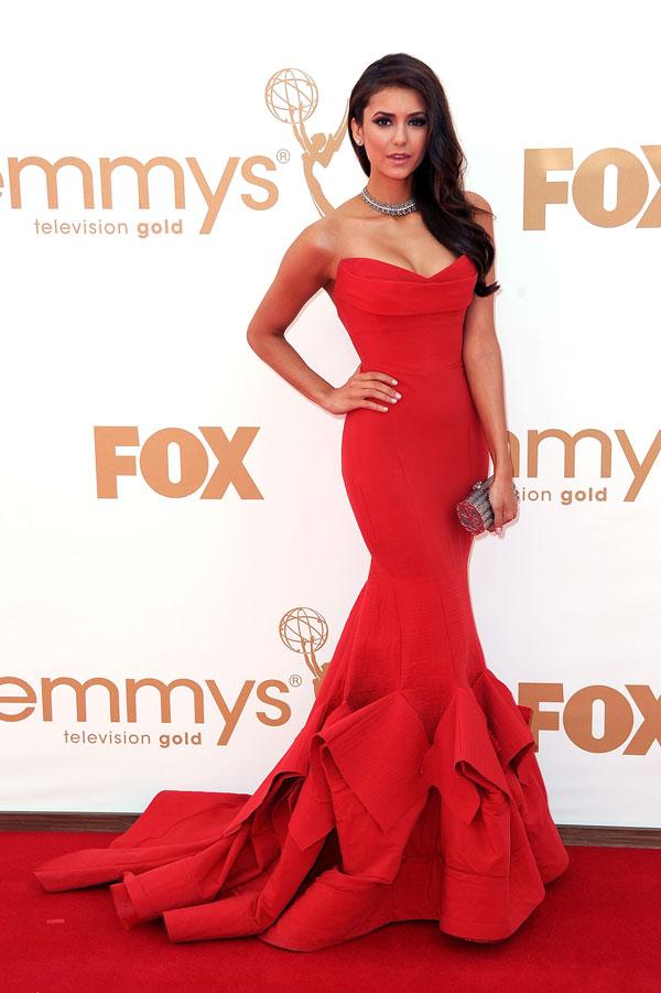nina dobrev Modne trendseterke: Deset glumica u crvenim haljinama
