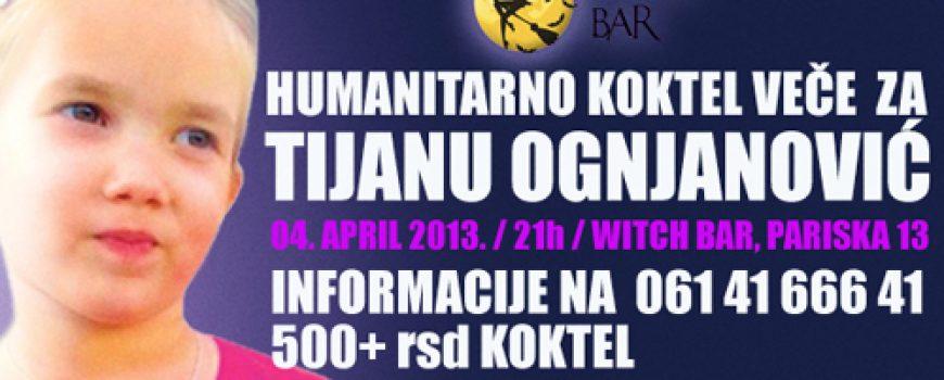 Humanitarno koktel veče za Tijanu Ognjanović