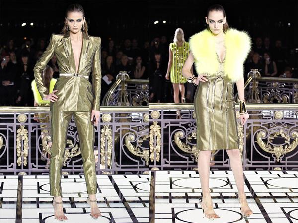 zlatno odelo i zlatna haljina slika 3 Proleće i leto na modnim pistama: Versace