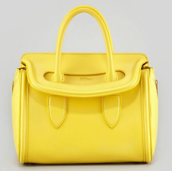 Alexander McQueen Heroine Small Tote Prolećne žute torbe