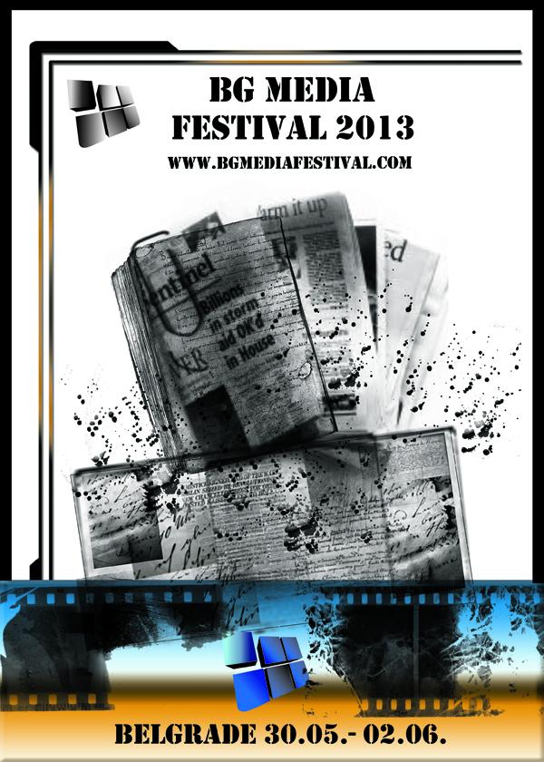 BG MEDIA plakat A4 BG Media festival