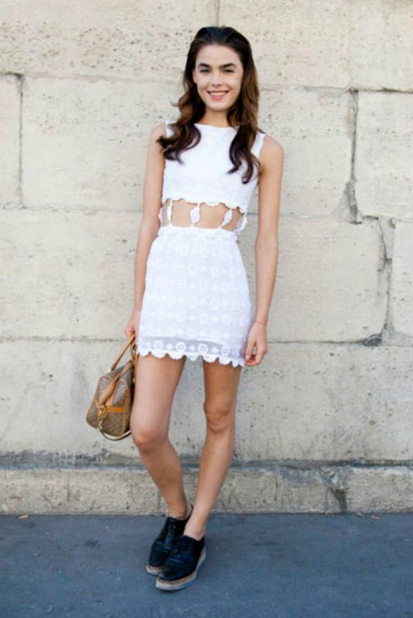 Bijela haljina Street Style: Bambi Northwood Blyth