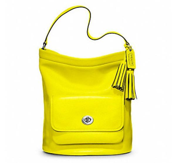 Coach Legacy Archival Bucket Bag Prolećne žute torbe