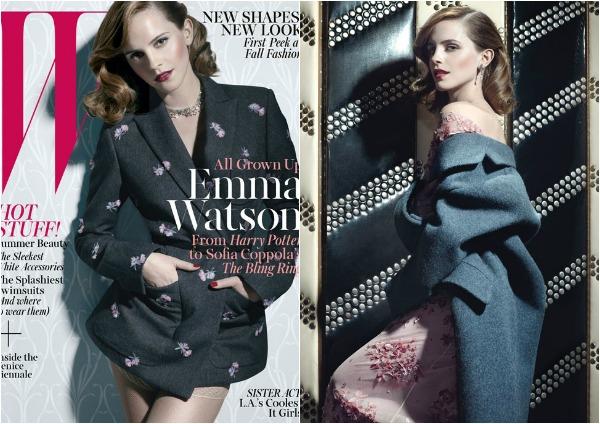 "Ema glumi u novom filmu Sofije Kopole Sofia Coppola koji se zove ""The Bling Ring"" Modni zalogaj: Glamurozna Emma Watson za ""W"""