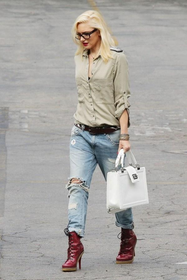 Gwen Stefani Celebrity stil dana: Gwen Stefani