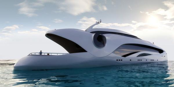 Jahta u obliku ribe  Brodovi novog doba: Luksuzne jahte