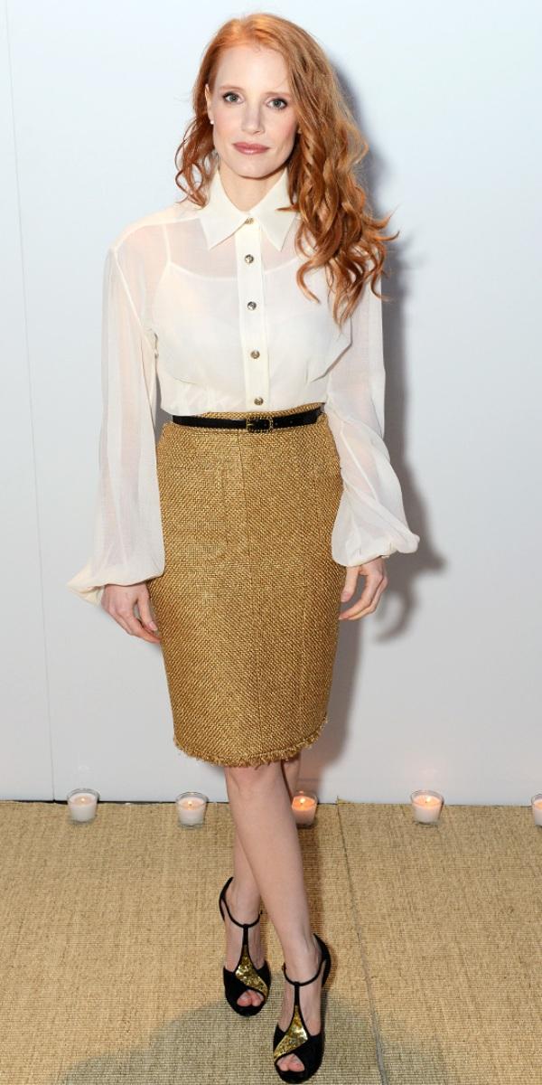 Jessica Chastain Celebrity stil dana: Jessica Chastain