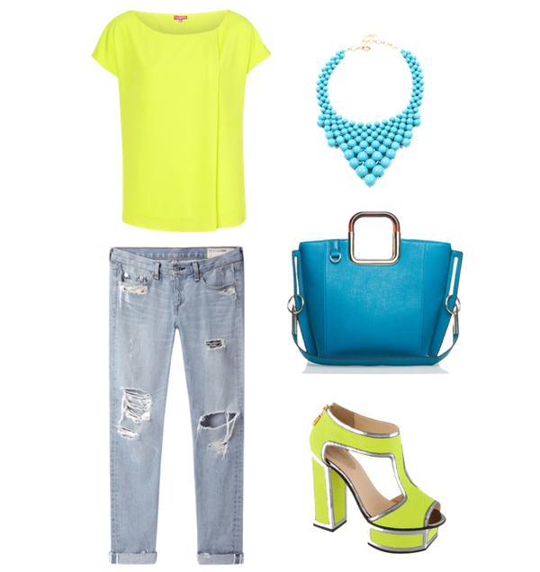 Look41 Look of the Day: Neon i teksas