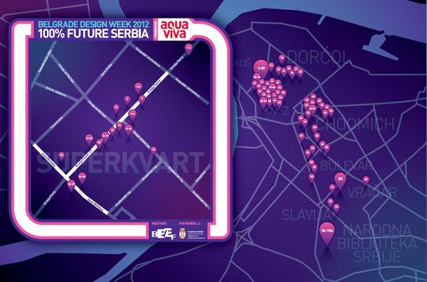 Mapa izlozi Belgrade Design Week: Konkurs 100% Future Serbia