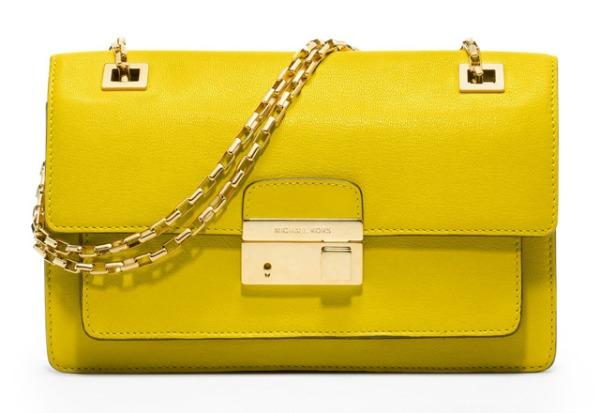 Michael Kors Gia Shoulder Bag Prolećne žute torbe