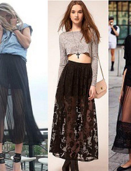 Kako kombinovati maksi suknju?