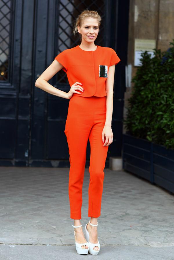 Narandžasto Street Style: Elena Perminova