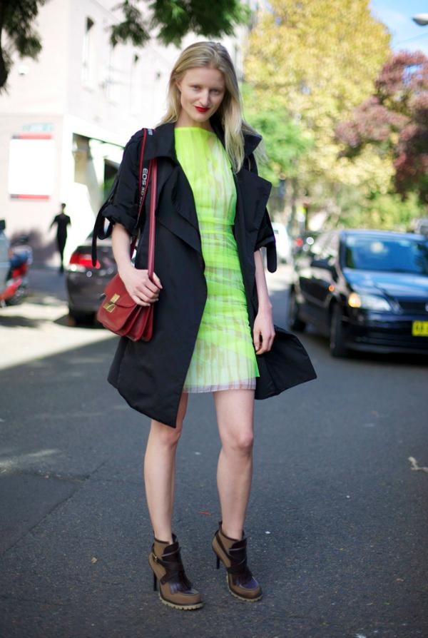 Neon haljina Na kafi sa trendseterkom: Candice Lake