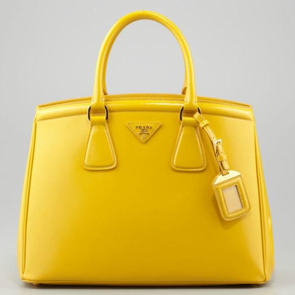 Prada Saffiano Parabole Tote Prolećne žute torbe