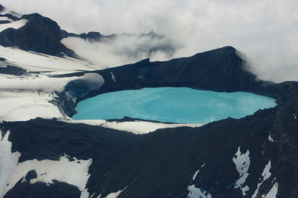 Ruapehu jezero Fascinantna kraterska jezera