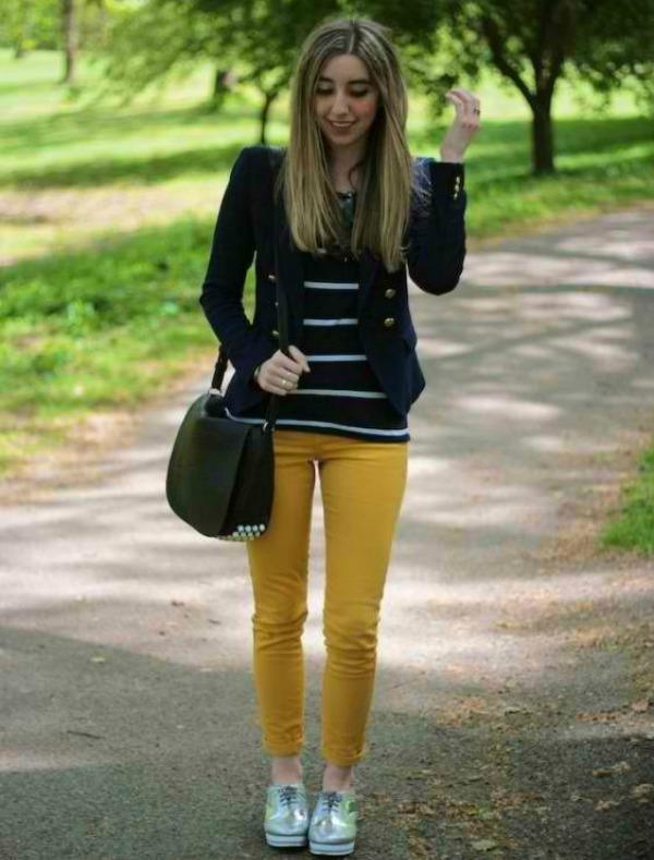 Uske pantalonice Modni saveti: Kako nositi žutu boju