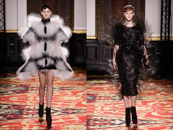 bela haljina sa cupavim i crna haljina sa bodljama slika3 Proleće i leto na modnim pistama: Iris Van Herpen