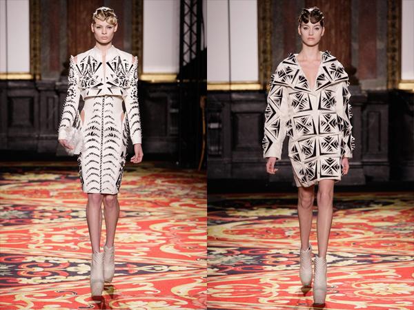 bele sa crnim futuristi ke haljine slika1 Proleće i leto na modnim pistama: Iris Van Herpen