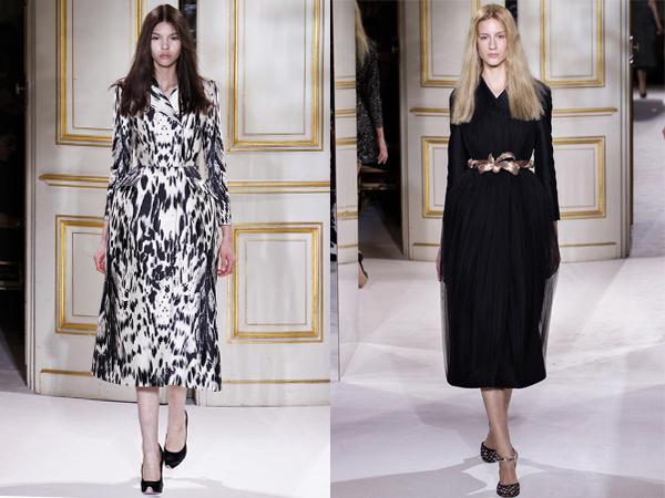 crno bela haljina i crna haljina sa pojasom slika1 Proleće i leto na modnim pistama: Giambattista Valli