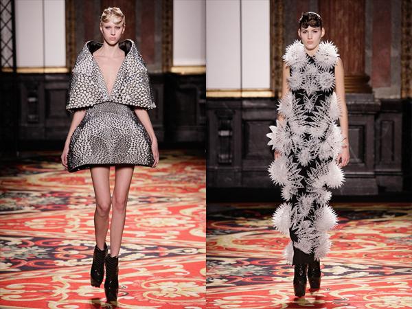 crno bela kratka i crno bela maksi haljina slika5 Proleće i leto na modnim pistama: Iris Van Herpen