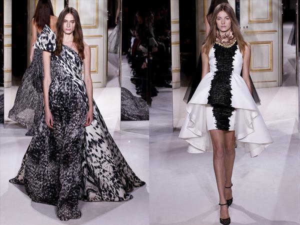 crno beli animal print i bela haljina slika3 Proleće i leto na modnim pistama: Giambattista Valli