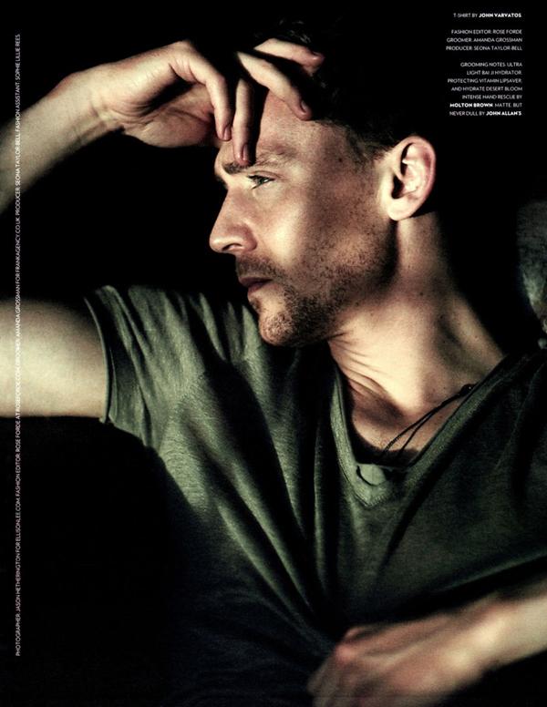 slika Tom Hidlston magazin U krevetu sa… Tomom Hidlstonom