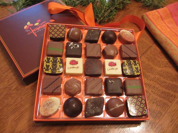 Čokoladne praline u crvenoj kutiji Vodič kroz potpuni užitak: Radionice čokolade