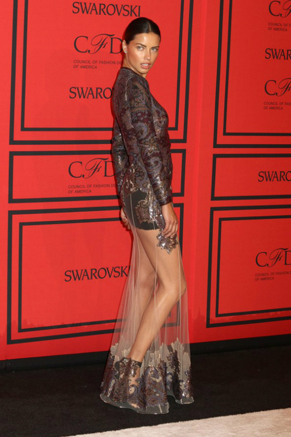 Adriana Lima Fashion Police: CFDA Awards 2013