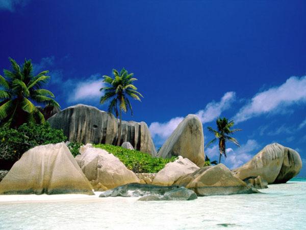 Bele stene i palme na obali Vodič kroz najmanje zemlje sveta