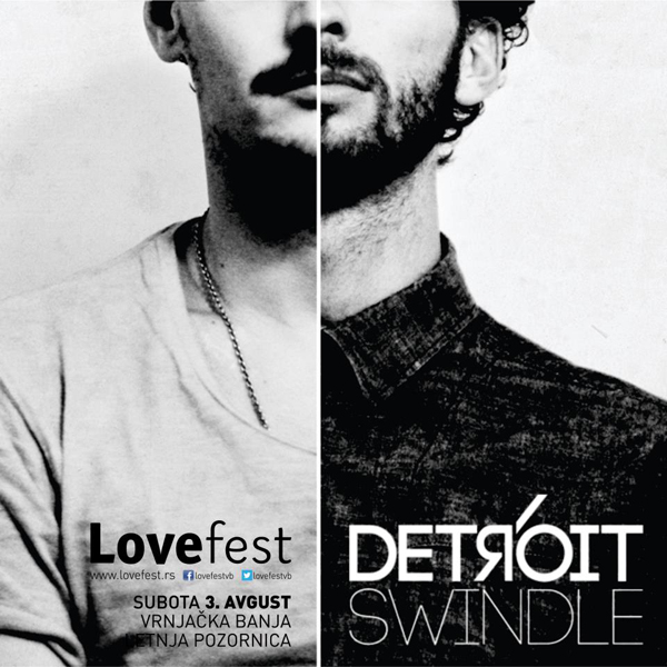 Detroit Swindle Lovefest od 1. do 3. avgusta u Vrnjačkoj Banji