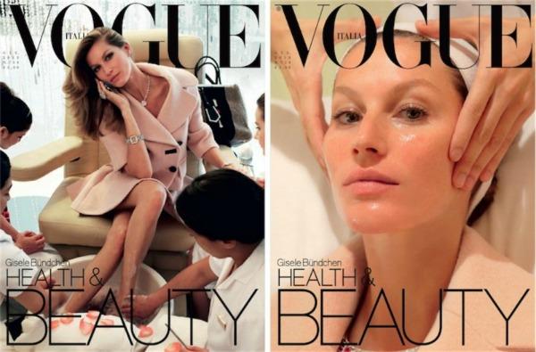 """Koja vam se naslovna strana više dopada Modni zalogaj: Gisele Bundchen na dve naslovnice za """"Vogue Italia"""""""
