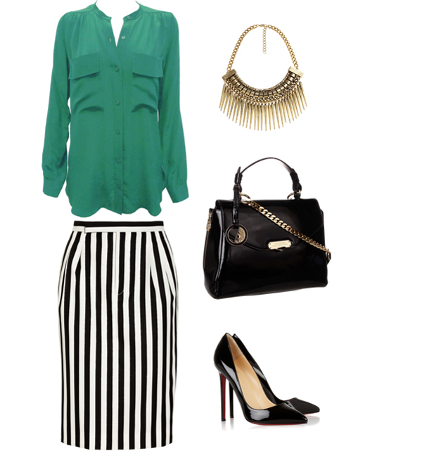Look63 Look of the Day: Zelena i pruge