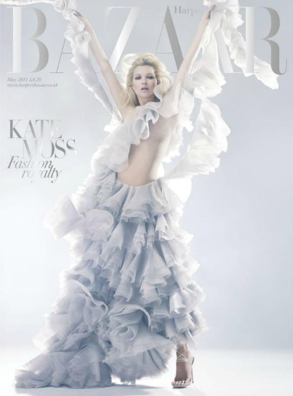 MAY11 Subsfoileffect Moda na naslovnici: Kate Moss u kraljevskom stilu