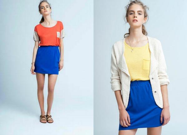 Plava suknja Marie Sixtine: Pastel i udobnost