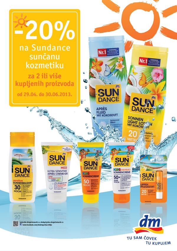 U susret letu SUNDANCE kozmetika – najbolja zaštita za Vašu kožu Beauty proizvodi dana: SUNDANCE kozmetika