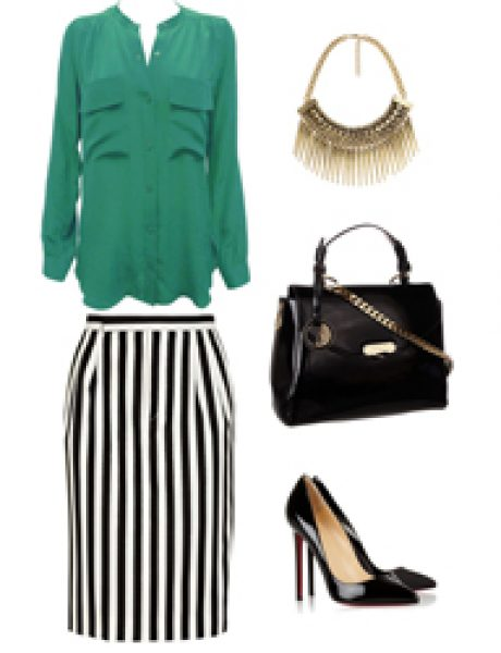 Look of the Day: Zelena i pruge
